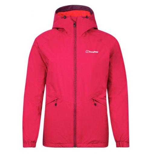 Berghaus Women's Deluge Pro Insulated Jacket Dark Pink